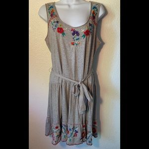Johnny Was Cotton floral embroidered dress az M